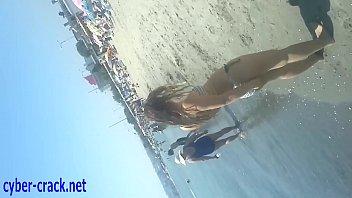 hd video beach voyeur Hairy puffy retro