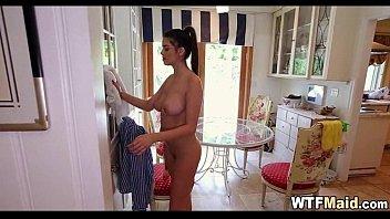 maids4 maid latina cleaning Total bukkake cum whore