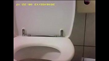 in school toilet wanking off Sweetheart is bestowing lusty blowjob on men rod