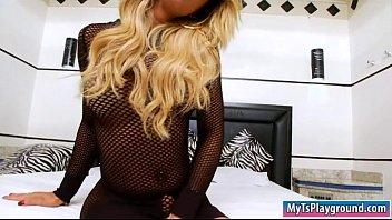 blonde shemale on webcam Jenna jameson blowbang