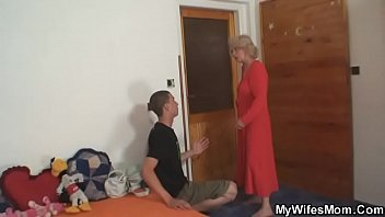 mother her son blackmail only Red dress house wife fucking with plumber