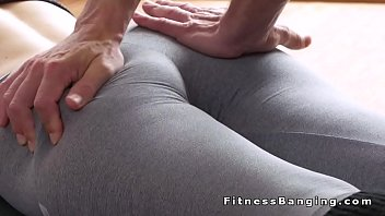 fuck pants torn and yoga Mature housewife in kitchen