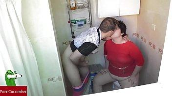 tanned girl bathroom Mom son nude seduced