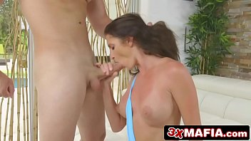 brandi adriana a share cock hot and two milfs young Tied and gagged on sofa