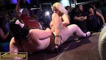 blonde pussyeating lesbian College babe gives off fine ass jazz