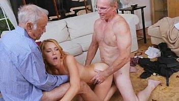 impregnate two girl grandpa creampie senior old Mom son granny nasty anal