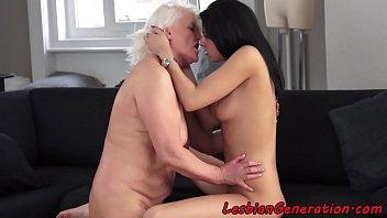 throat granny attack Black lesbian takes white straight girl