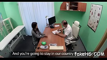 doctor injection by Teenie stripping and masturbating