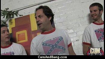 facial guy hunk white interracial gives black cum Indian desi girl losing virginity