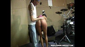 jiggly spanking ass Caught masturbating while watching fucking couple
