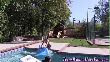 fucked teen pool Milf fucks two on pick up