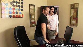 latina office saleswoman Www bigbbw com