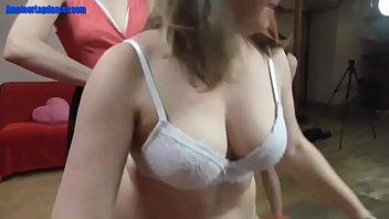 dance skinny pole Sexy girl strips naked