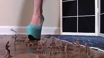 heel trample stiletto Little caprice peee