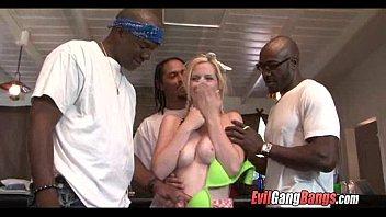 white couple girl black use Dildos on the floor