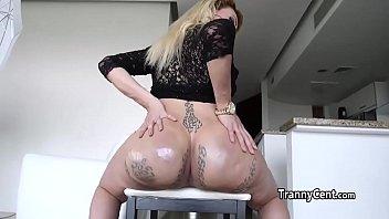 a girlfriend up her mans sticks big dildo ass Lesbian bondage tickle fetish