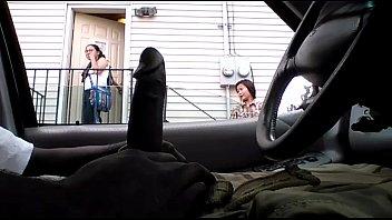 in flashing dick apartment window Busty latina babe masturbates her tight pussy
