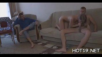 desk a fucked talks blonde on hot stunt money during Amateur pisses all over